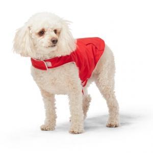 Poppy Red Dog Rain Jacket - Waterproof, 12?, Small