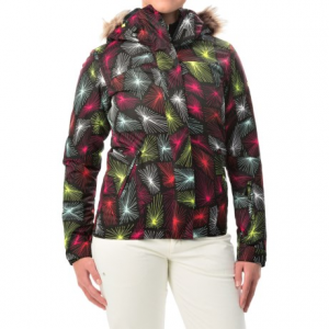 roxy jet ski snowboard jacket - waterproof, insulated (for women)- Save 67% Off - CLOSEOUTS . Fashion and function come together in Roxyand#39;s Jet Ski snowboard jacket. The boldly patterned waterproof shell features low-bulk insulation, an adjustable hood with detachable faux-fur trim and plenty of pockets to hold goggles, park pass and other essentials. Available Colors: DEEPA. Sizes: L, M, S, XL, XS.
