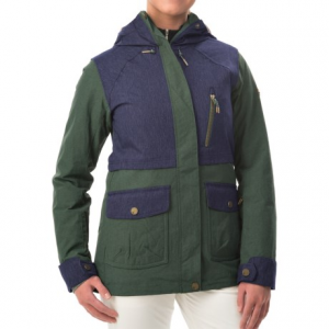 roxy tribe snowboard jacket - waterproof, insulated (for women)- Save 73% Off - CLOSEOUTS . More than meets the eye, the Roxy Tribe snowboard jacket soothes your winter experience with a Biotherm-treated neck warmer, releasing moisturizing microbes into your skin on contact. The jacket also boasts Dry-Flight waterproof breathable technology to stave off the weather so you can take one more ride. Available Colors: RUBBER, JUNGLE GREEN, ANTHRACITE. Sizes: L, M, XL, XS, S.