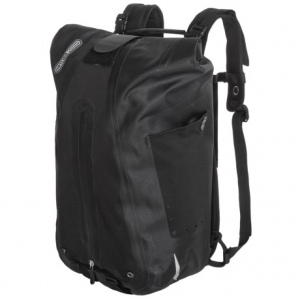 ortlieb vario ql3 pannier backpack- Save 43% Off - CLOSEOUTS . The Ortlieb Varrio QL3 pannier backpack boasts a waterproof roll top and a flexible design that transforms from bike pannier into a comfortable backpack with stowable shoulder straps. Available Colors: BLACK, SIGNAL RED/BLACK, STEEL BLUE, DARK CHILI, MOSS.