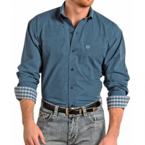 panhandle slim select peached poplin print shirt - long sleeve (for men and tall men)- Save 44% Off - CLOSEOUTS . A classic button down with nuances of the Panhandle Slim brand, this poplin print shirt feels wonderfully soft, thanks to the fabricand#39;s peached finish. Available Colors: BLUE, CHARCOAL, BRONZE, AUBERGINE, PALE BLUE. Sizes: M, L, XL, 2XL, S.