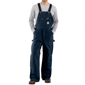 Image of Carhartt Zip-to-Thigh Bib Overalls - Quilted Lining, Factory Seconds (For Men)