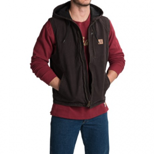 Image of Carhartt Knoxville Hooded Vest - Fleece Lined (For Men)