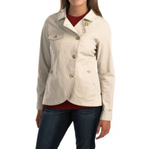 woolrich laurel run shirt jacket (for women)- Save 72% Off - CLOSEOUTS . The Woolrich Laurel Run shirt jacket is just enough to keep the chill at bay with eye-catching asymmetrical styling. Itand#39;s made with crisp poplin cotton and stretchy spandex for a cute and low-bulk shield against a blustery breeze. Available Colors: OLIVE DRAB, STONE. Sizes: XS, S, M, L, XL, 2XL.