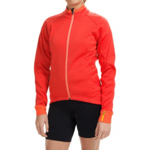 mavic aksium thermo cycling jacket (for women)- Save 49% Off - CLOSEOUTS . Not one to shy away from cold-weather rides? Suit up in Mavicand#39;s Aksium Thermo cycling jacket and let the Cold Ride fabric keep you warm throughout your ride. Itand#39;s coated with a DWR finish to ward off moisture on the outside, and the buttery-soft fleece interior wicks inside moisture to keep you comfortable to the core. Available Colors: CERISE, GECKO GREEN, MOOREA BLUE, RACING RED. Sizes: 2XS, XS, S, M, L, XL.