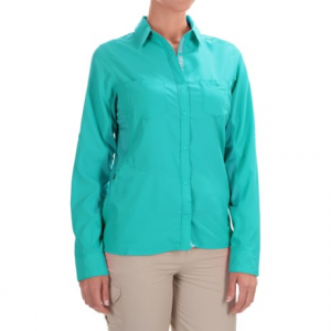 patagonia sol patrol shirt - upf 30, long sleeve (for women)- Save 55% Off - CLOSEOUTS . The sun wonand#39;t even be able to find you in this baby! Patagoniaand#39;s Sol Patrol shirt offers a hefty dose of protection and wicking, fast-drying performance to keep you comfortably cool from noon-day blast to hot valley hike. Available Colors: BLEACHED STONE, ION BLUE, SKIPPER BLUE, PEACH SHERBET, GINGER BERRY, LITE DISTILLED GREEN, WHITE, LITE CUSCO ORANGE, HOWLING TURQUOISE. Sizes: S, M, L, XL, XS.