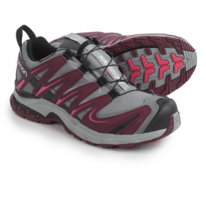 salomon xa pro 3d climashield(r) trail running shoes - waterproof (for women)- Save 51% Off - CLOSEOUTS . Salomonand#39;s XA Pro 3D CS WP trail running shoes are designed to feel light and nimble in the wilderness while still providing excellent grip on rugged surfaces. The Climashieldand#174; membrane repels outside moisture and allows your feet to breathe so they always feel cool and comfortable regardless of how difficult the trail gets. Available Colors: HORIZON BLUE/DEEP BLUE/SOFTY BLUE, MYSTIC PURPLE/COBALT BLUE/BLACK, FOG BLUE/LIGHT ONIX/IGLOO BLUE, GREY/BORDEAUX/HOT PINK. Sizes: 5, 5.5, 6, 6.5, 7, 7.5, 8, 8.5, 9, 9.5, 10, 10.5, 11, 11.5, 12, 12.5, 13, 14, 13.5.