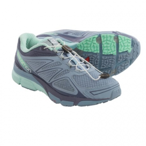salomon x-scream 3d trail running shoes (for women)- Save 44% Off - CLOSEOUTS . Salomonand#39;s X-Scream 3D trail running shoes are nimble, all-around performers that deliver a durable, responsive ride on pavement and smooth dirt. The mesh upper features Endofit, an internal sleeve attached to the tongue that hugs the foot for improved response Available Colors: FIREFLY GREEN/WASABI/HOT PINK, STONE BLUE/ARTIST GREY-X/LUCITE GREEN, AIR/WHITE/BLUE LINE. Sizes: 6, 6.5, 7, 7.5, 8, 8.5, 9, 9.5, 10, 10.5, 11, 12, 5, 5.5.