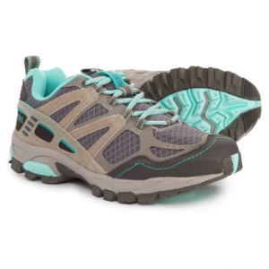 pacific trail tioga trail running shoes (for women)- Save 50% Off - CLOSEOUTS . Ideal for rolling trails and general off-road use, Pacific Trail Tioga trail running shoes have an abrasion-resistant toe cap, a well-cushioned midsole and a flexible design. Available Colors: DARK GREY/BLACK/PINK, DARK GREY/LIGHT GREY/AQUA. Sizes: 6, 6.5, 7, 7.5, 8, 8.5, 9, 9.5, 10.
