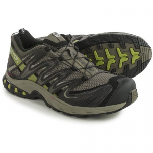 salomon xa pro 3d trail running shoes (for men)- Save 38% Off - CLOSEOUTS . Salomon XA Pro 3D trail running shoes are a great choice for aggressive runners tackling technical terrain. The mesh upper features the 3D Advanced Chassis for support and the Quicklace system for simple, secure tightening. Available Colors: METHYL BLUE/GREY/BLACK, QUICK/BLACK/GECKO GREEN, AUTOBAHN/BLACK/YELLOW GOLD, SLATE BLUE/DETROIT/RADIANT RED, SWAMP/DARK TITANIUM/SEAWEED GREEN. Sizes: 7, 7.5, 8, 8.5, 9, 9.5, 10, 10.5, 11, 11.5, 12, 13, 14, 12.5.