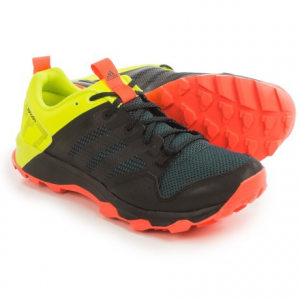 adidas outdoor kanadia 7 trail running shoes (for men)- Save 37% Off - CLOSEOUTS . Go get dirty in the Adidas Outdoor Kanadia 7 trail running shoes. The TRAXIONand#174; outsole dominates mud and water to keep you on your feet, and the lightweight cushioning offers a smooth ride on the gnarliest of singletrack. Available Colors: BLACK/BLACK/SOLAR RED, UMBER/BLACK/BLUE, MIDNIGHT INDIGO/CHALK WHITE/SOLAR YELLOW, SOLAR GREEN/BLACK/SOLAR ORANGE, BLACK/BLACK/WHITE, NIGHT NAVY/BLACK/EQT ORANGE, POWER RED/POWER RED/BOLD ORANGE, SOLAR BLUE/BLACK/SOLAR GOLD, BLACK/BLACK/SOLAR YELLOW. Sizes: 7, 7.5, 8, 8.5, 9, 9.5, 10, 10.5, 11, 11.5, 12, 13, 14, 6.5.
