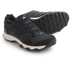 adidas outdoor kanadia 7 gore-tex(r) trail running shoes - waterproof (for men)- Save 41% Off - CLOSEOUTS . Ideal for short, muddy runs and cbstacle course racing, Adidas Outdoor Kanadia 7 Gore-Texand#174; trail running shoes keep feet cool and dry. The TRAXIONand#174; lugged rubber outsole excels in wet, muddy conditions, keeping you sure-footed. Available Colors: RAW OCHRE/BLACK/SOLAR YELLOW, NIGHT FLASH/BLACK/SOLAR YELLOW, EQT BLUE/BLACK/CHALK WHITE, EQT GREEN/BLACK/SEMI SOLAR SLIME, EQT ORANGE/BLACK/CHALK WHITE, VISTA GREY/BLACK/CHALK WHITE, BASE GREEN/BLACK/TECH BEIGE, BLACK/VISTA GREY/UNITY ORANGE, CLEAR ONIX/BLACK/SHOCK BLUE, TECH STEEL/UNITY BLUE/UNITY LIME. Sizes: 6, 6.5, 7, 7.5, 8, 8.5, 9, 9.5, 10, 10.5, 11, 11.5, 12, 13, 14.