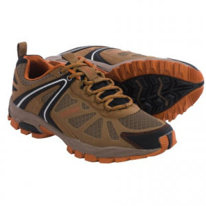 pacific trail pilot trail running shoes (for men)- Save 50% Off - CLOSEOUTS . Pacific Trail Pilot trail running shoes are a great value for casual trail runs and fast-paced hikes. The upper features breathable mesh with a protective toe cap, and the well-cushioned collar ensures a comfortable fit. Available Colors: DARK GREY/BLACK/LIME, TAUPE/BLACK/ORANGE. Sizes: 7, 7.5, 8, 8.5, 9, 9.5, 10, 10.5, 11, 11.5, 12, 13.