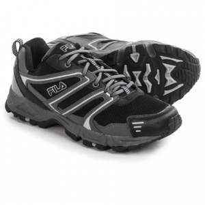 fila ascente 8 trail running shoes (for men)- Save 57% Off - CLOSEOUTS . Take on the trails and city streets with the style, support and protection of Filaand#39;s Ascente 8 trail running shoes. They feature a tough upper that offers good offroad protection, and the midsole and outsole combine to optimize cushion, support and traction. Available Colors: BLACK/CASTLEROCK/METALLIC SILVER, CASTLEROCK/BLACK/PRINCE BLUE, FILA NAVY/CASTLEROCK/SAFTEY. Sizes: 7, 7.5, 8, 8.5, 9, 9.5, 10, 10.5, 11, 11.5, 12, 13.