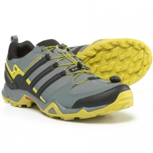 adidas outdoor terrex swift r trail running shoes (for men)- Save 47% Off - CLOSEOUTS . Adidas Outdoor Terrex Swift R trail running shoes combine stability features and superior traction in mixed conditions. The Formotionand#174; heel insert dissipates shock and provides motion control, and a TRAXIONand#174; lugged rubber outsole delivers excellent grip. Available Colors: BLUE BEAUTY/BLACK/VIVID YELLOW, REAL GREEN/BLACK/VIVID YELLOW, SOLAR SLIME/BLACK/VIVID GREEN, TRIBE BLUE/BLACK/SOLAR ZEST, BLACK/VIVID RED, COLLEGIATE NAVY/BLACK/SOLAR BLUE, DARK ONIX/BLACK/SEMI SOLAR GREEN, LIGHT SCARLET/BLACK/UNIVERSITY RED, VISTA GREY/BLACK/SOLAR RED, NIGHT CARGO/TECH BEIGE/BASE GREEN, GOLD OCHRE/SOLAR YELLOW/RAW OCHRE, NIGHT FLASH/BLACK/SOLAR RED, SOLAR BLUE/BLACK/SEMI SOLAR YELLOW, EQT BLUE/BLACK/SHOCK BLUE, SEMI SOLAR SLIME/CORE BLACK/CHALK WHITE, BLACK/POWER RED/DARK GREY, BLACK/SOLAR YELLOW/UTILITY BLACK, BRANCH/BLACK/UMBER, COLLEGIATE NAVY/BLACK/SHOCK BLUE, EARTH/BLACK/EQT ORANGE, UMBER/BLACK/TECH BEIGE. Sizes: 8, 8.5, 9, 9.5, 10, 10.5, 11, 11.5, 12, 13, 14, 6, 6.5, 7, 7.5, 15.