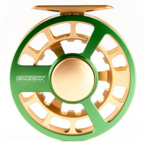 cheeky fly fishing ambush 375 fly reel- Save 44% Off - CLOSEOUTS . With an extremely smooth, sealed synthetic disc drag system, the Cheeky Fly Fishing Ambush 375 fly reel is a friend you can rely on when it comes time to land a big trout, a feisty bass or a young salmon. Available Colors: SILVER, GREEN/GOLD.