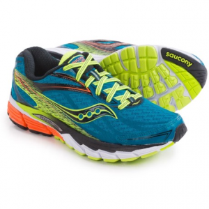 saucony ride 8 running shoes (for men)- Save 41% Off - CLOSEOUTS . Sauconyand#39;s Ride 8 running shoes are an excellent high-mileage trainer for neutral runners. The next-generation upgrades include an all-new FlexFilm upper to enhance fit, a weight-reducing PowerGrid midsole with vertical flex grooves for added forefoot flexibility, and an extended SRC Crash Pad for smooth transitions. Available Colors: SILVER/RED/CITRON, MIDNIGHT/BLACK/ORANGE, SLIME/BLACK/WHITE, DEEPWATER/CITRON/ORANGE. Sizes: 5.5, 6, 6.5, 7, 7.5, 8, 8.5, 9, 9.5, 10, 10.5, 11, 11.5, 12, 12.5, 13, 14, 15.