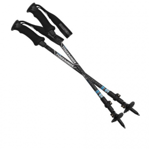komperdell pure carbon adjustable trekking poles - compact- Save 59% Off - CLOSEOUTS . Komperdell Pure Carbon compact trekking poles feature a carbon fiber shaft to shave weight, helping to extend your hiking day. The extra-compact, 3-section design packs down small and adjusts with the reliable PowerLock II mechanism.