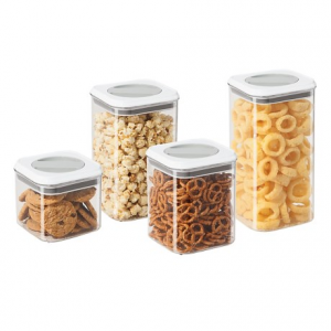 Image of OGGI Twist and Store Airtight Canister Set - BPA-Free, 4-Piece