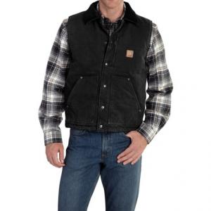 Image of Carhartt Chapman Sandstone Duck Vest - Fleece Lining (For Big and Tall Men)