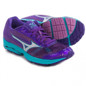 mizuno wave sayonara 3 running shoes (for women)- Save 54% Off - CLOSEOUTS . Lace up the Mizuno Wave Sayonara 3 running shoe, and say goodbye to your competition. This neutral performance shoe keeps you light on your feet with all the springy response you expect from Mizunoand#39;s SmoothRide engineering and Dynamotion Fit, making it the right pair of kicks for up-tempo workouts or racing. Available Colors: PINK/WHITE, ROYAL PURPLE/SILVER, BLACK/NEON PINK. Sizes: 6, 6.5, 7, 7.5, 8, 8.5, 9, 9.5, 10, 10.5, 11.