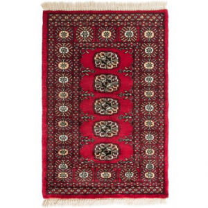 Image of HRI Bokhara Collection Hand-Knotted Wool Accent Rug - 2x3?