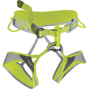 edelrid moe ii climbing harness (for men and women)- Save 33% Off - CLOSEOUTS . Comfortably engineered with an ergonomic shape, moveable waist padding and anatomically designed leg loops, Edelridand#39;s Moe II climbing harness is an ideal choice for recreational sport climbing. Available Colors: PEBBLE/OASIS. Sizes: S, M, L, XS.
