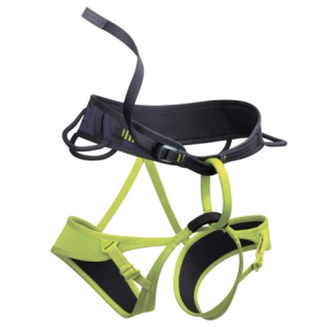 edelrid leaf climbing harness (for men and women)- Save 42% Off - CLOSEOUTS . A good thing can come in a small, strong package, especially when it comes to the Edelrid Leaf climbing harness. Lightweight and with minimal packing size, the Leafand#39;s laminated construction will keep you safe on the slab and provide the confidence you need to get to the top. Available Colors: SLATE/OASIS. Sizes: S, M, L, XS.