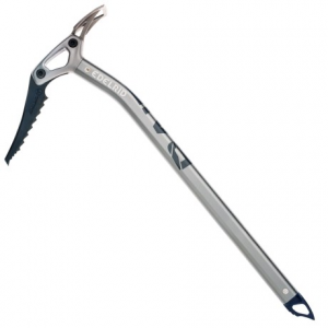 edelrid raid ice axe- Save 42% Off - CLOSEOUTS . Edelridand#39;s Raid ice axe is a versatile ice climbing essential. Designed for mixed climbing conditions, the Raid offers lightweight aluminum construction for easier ascents and an ergonomic handle with safe knuckle protection. The hardened steel pick and bottom spikes cut through ice with ease, and -- thanks to its modular construction -- the interchangeable adze can be removed, replaced or swapped-out with a hammer head to suit a variety of conditions. Available Colors: SLATE. Sizes: 50, 60.