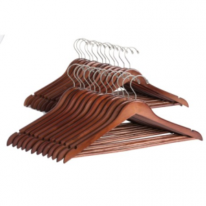 Image of Great American Hanger Co. Flat Body Wooden Hangers - 25-Pack