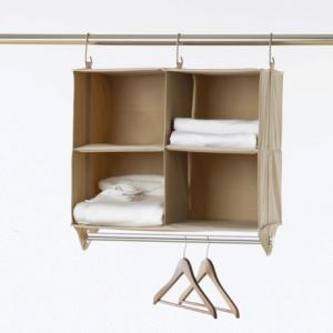 Image of closetMAX Hanging Four-Shelf Organizer with Bar