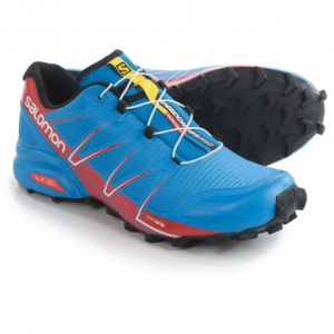 salomon speedcross pro trail running shoes (for men)- Save 33% Off - CLOSEOUTS . Salomon Speedcross Pro trail running shoes offer outstanding durability and race-ready performance for high-energy runs in technical terrain. The aggressively lugged outsole is built for traction in mud and on slick surfaces Available Colors: BLACK/WHITE/BRIGHT RED, BRIGHT BLUE/RADIANT RED/BLACK. Sizes: 7, 8, 8.5, 9, 9.5, 10, 11, 11.5, 12, 13, 10.5, 12.5, 7.5.