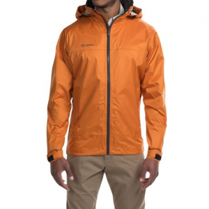 simms hyalite rain jacket (for men)- Save 46% Off - CLOSEOUTS . Afternoon showers and ocean spray are no match for Simms Hyalite rain jacket, which works hard to keep you dry, with a highly water-repellent, Teflonand#174;-treated shell and full-time hood. Available Colors: OCEAN BLUE, DARK GUNMETAL, TIDAL BLUE, CLAY, SCARLET. Sizes: S, M, L, XL, 2XL.