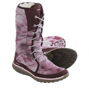 merrell pechora peak winter boots (for women)- Save 65% Off - CLOSEOUTS . Wintertime jaunts around town call for the lightweight and warm Merrell Pechora Peak boots. The quilted fabric upper is flexible and comfy, and the plush faux-fur lining is as cozy as it gets. Slip-resistant M Select GRIP rubber outsole offers stability on unpredictable surfaces, too. Available Colors: TAUPE, DRAGONFLY, BURGUNDY. Sizes: 5, 5.5, 6, 6.5, 7, 7.5, 8, 8.5, 9, 9.5, 10, 10.5, 11.