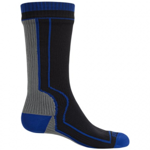 sealskinz mid-length waterproof socks - merino wool lined, crew (for men and women)- Save 48% Off - CLOSEOUTS . No matter how waterproof your shoes are, if rain or snow gets in through the top of the collar, nothing can keep your feet dry -- except SealSkinz waterproof socks. The anatomical design incorporates a waterproof breathable membrane, moisture-wicking merino wool blend lining and stretch nylon exterior. Available Colors: BLACK, BLACK/GREY. Sizes: S, M, L, XL.