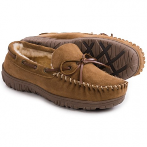Image of Clarks Moc Shearling Slippers (For Men)