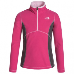 Image of The North Face Glacier Fleece Jacket - Zip Neck (For Little and Big Girls)