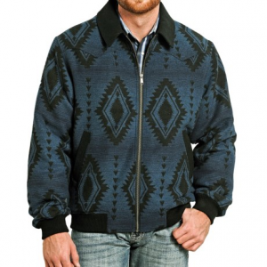 Image of Powder River Outfitters Arizona Bomber Coat - Wool Blend (For Men)