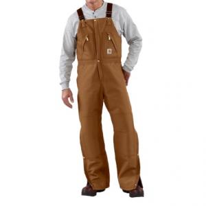Image of Carhartt Quilt-Lined Duck Bib Overalls - Factory Seconds (For Men)