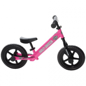 strider harley balance bike (for kids)- Save 38% Off - CLOSEOUTS . The Strider Harley balance bike features a lowered seat, a no-pedal design and Harley-Davidson graphics, allowing your child to focus on the fundamentals of riding without the distractions of pedals or training wheels. Available Colors: PINK.