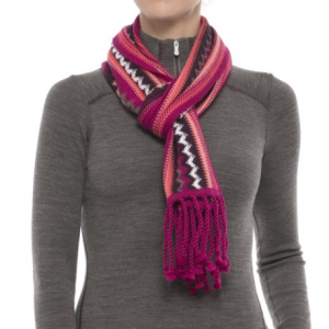 Image of SmartWool Pine Lake Chevron Scarf - Merino Wool (For Men and Women)