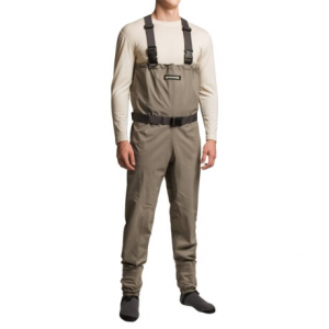 compass 360 stillwater breathable chest waders - stockingfoot (for men)- Save 36% Off - CLOSEOUTS . Good things come to those who wade, and whether the Compass 360 Stillwater chest waders are your first pair or backups for older waders, you can always cast in confidence knowing the durable fabric and breathable stockingfoot design will keep you dry and well-protected. Four-ply nylon construction with double-taped seams and 4mm chloroprene booties equal 100% waterproof performance. Available Colors: KHAKI/STORM GREY. Sizes: S, M, L, XL, 2XL.