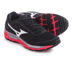 mizuno synchro mx running shoes (for women)- Save 55% Off - CLOSEOUTS .  Equally at home on the road and on the treadmill, the Mizuno Synchro MX running shoes offer flexibility and durability for your training. The U4ic midsole cushions each stride and maintains low weight, and a blown-rubber outsole with X-10 carbon in the heel adds traction to any surface. Available Colors: PINK/BLACK, BLACK/WHITE, DARK SHADOW/BLACK, BLUE ATOLL/WHITE. Sizes: 6, 6.5, 7, 7.5, 8, 8.5, 9, 9.5, 10, 10.5, 11.