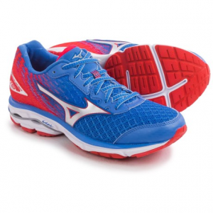 mizuno wave rider 19 running shoes (for women)- Save 41% Off - CLOSEOUTS . The Mizuno Wave Rider 19 running shoe takes its name seriously, propelling you from stride to stride with a springier U4icX midsole and an upgraded premium sockliner that enhances rebound and flexibility. With a blown-rubber outsole offering durability and enhancing the shoeand#39;s natural flexibility, the Wave Rider excels during your long runs. Available Colors: LILAC MARBLE/WHITE, FUCHSIA PURPLE/SILVER, ICE BLUE/SILVER, MALIBU BLUE/SILVER, ALLOY/ELECTRIC GREEN. Sizes: 6, 6.5, 7, 7.5, 8, 8.5, 9, 9.5, 10, 10.5, 11, 11.5, 12.