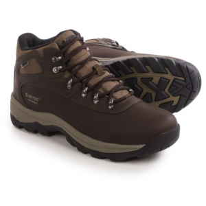 hi-tec altitude base camp hiking boots - waterproof (for men)- Save 47% Off - CLOSEOUTS . From your comfortable campsite to blustery summits, Hi-Tecand#39;s Altitude Base Camp hiking boots carry you to new heights. This stable design has a waterproof breathable leather upper, a well-cushioned insole and a rubber MDT outsole. Available Colors: DARK CHOCOLATE. Sizes: 7, 7.5, 8, 8.5, 9, 9.5, 10, 10.5, 11, 11.5, 12, 13, 14.