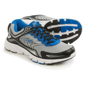 fila memory maranello 4 running shoes (for men)- Save 60% Off - CLOSEOUTS . Take on extra miles in Filaand#39;s Memory Maranello 4 running shoes -- a lightweight design that provides serious support, excellent shock absorption and ample underfoot cushioning, plus CoolMaxand#174; wicking technology to keep feet cool and comfortable. Available Colors: METALLIC SILVER/BLACK/PRINCE BLUE, BLACK/BLACK/METALLIC SILVER, BLACK/RED/METALLIC SILVER, DARK SILVER/VIBRANT ORANGE/BLACK. Sizes: 7, 7.5, 8, 8.5, 9, 9.5, 10, 10.5, 11, 11.5, 12, 13, 14.