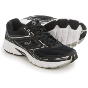 fila xtent 4 running shoes (for men)- Save 57% Off - CLOSEOUTS . Hit the road or the gym with the cushioning and support of Filaand#39;s Xtent 4 running shoes. Supportive and well-cushioned, it has a combination EVA and rubber outsole for a soft ride without sacrificing durability. Available Colors: BLACK/DARK SILVER/RED, WHITE/NAVY/METALLIC SILVER, BLACK/DARK SILVER/PRINCE BLUE, BLACK/BLACK/METALLIC SILVER, DARK SILVER/BLACK/VIBRANT ORANGE. Sizes: 7.5, 8, 8.5, 9, 9.5, 10, 10.5, 11, 11.5, 12, 13, 7, 14.
