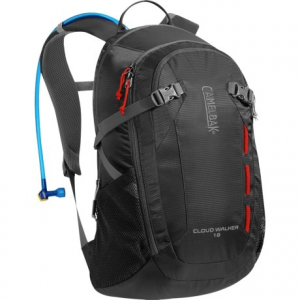 camelbak cloud walker 18 hydration pack - 70 fl.oz- Save 50% Off - CLOSEOUTS . CamelBakand#39;s Cloud Walker 18 hydration pack is the ideal companion for day hikes and shorter outings. The mesh-padded back panel features Air Channel cooling, and three-point compression keeps loads close to your back Available Colors: TAPENADE/GRAPHITE, CHARCOAL/GRAPHITE.
