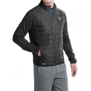 rbx tech quilted-front hybrid jacket (for men)- Save 50% Off - CLOSEOUTS . This RBX hybrid jacket combines stretchy fleece with lightly insulated woven panels at the front and upper back to create a layer of warmth that wonand#39;t restrict your movement during chilly-day activities. The mock collar blocks cold drafts, and the raglan sleeves wonand#39;t bunch up at the shoulders. Available Colors: BLACK. Sizes: S, M, L, XL.