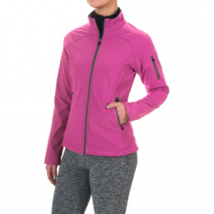 colorado clothing antero soft shell jacket (for women)- Save 64% Off - CLOSEOUTS . Lightweight and wind resistant, Colorado Clothingand#39;s Antero soft shell jacket sheds moisture, locks in warmth, and lets you move freely with four-way stretch. The fleece backing is brushed for added softness and comfort, and the zip pockets ensure essentials stay secure. Available Colors: ATOMIC, CITY GREY, BLACK, SANGRIA, MARBLE BLUE. Sizes: S, M, L, XL, 2XL, 3XL.